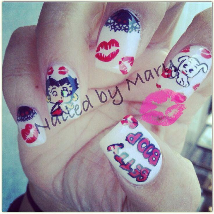Betty Boop Nails: Betty Boop, Print