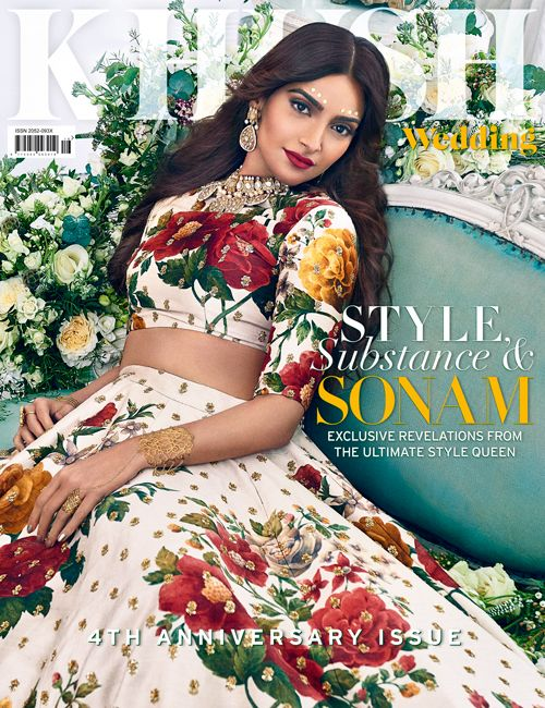 Meet the quintessential fashionista @SonamKapoor as she graces #KhushMag's fourth anniversary cover. Editor-in-chief: @sonia_ullah Wardrobe: @sabyasachiofficial available at @aashniandco HMUA: @ginibhogal Jewellery: @reddotjewels Floral Designer: @larrywalshe Creative Director: @mannisahota Fashion editor: @vikas_r #KhushXSonamKapoor