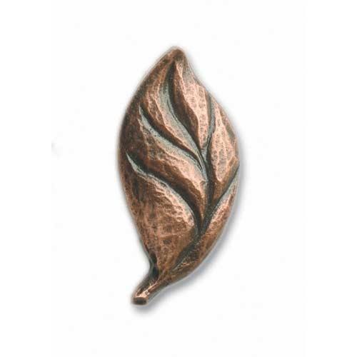 Antique Copper Left Facing Carved Leaf Knob. Antique CopperCabinet HardwareKnobFurniture  Hardware