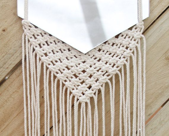 Macrame mirror 1 by KindofJoy on Etsy