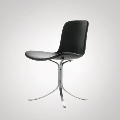 :: Poul Kjærholm: PK 9, 1960  Made by Kold Christensen. Leather and steel ::