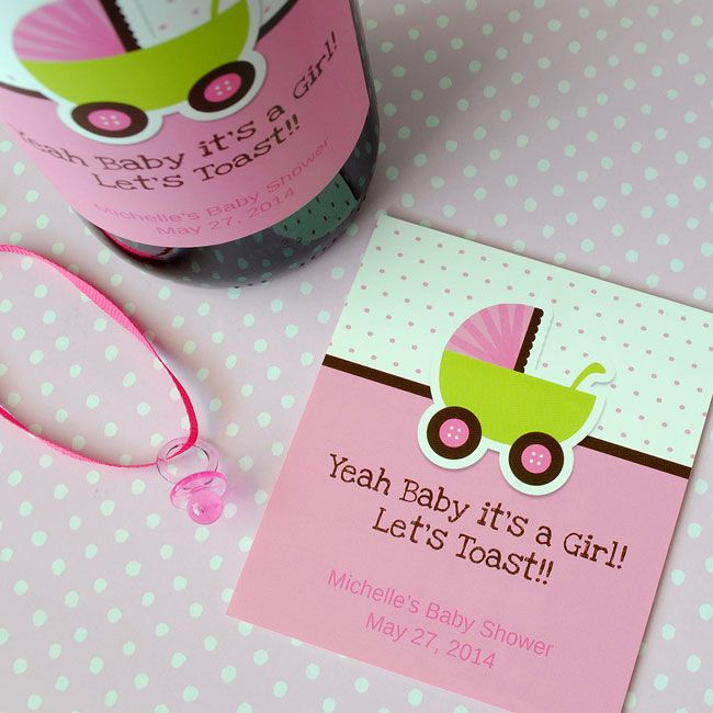 34 best adorable baby shower favor ideas images on pinterest baby girl wine labels you can personalize online for your next shower babygirl pronofoot35fo Gallery