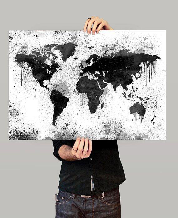 World map print large world map map art print map for Weltkarte poster ikea