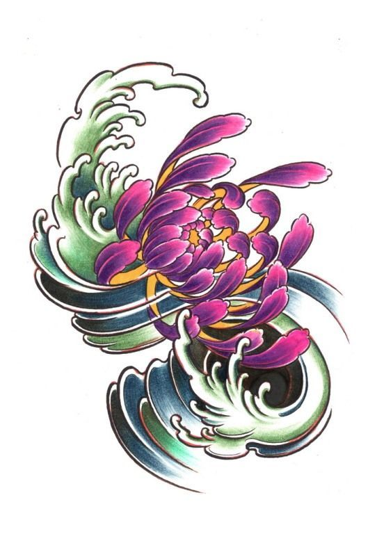 Diseños Tattoos, Tattoos Orientales, Crisantemo, Carpa, Flores, Tatuajes, Tatuajes De Dragón, 3060 Tattoo, 8304 Tattoo