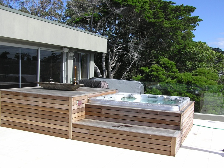 outdoor spa with deck