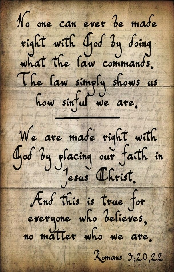 Therefore no one will be declared righteous in God's sight by observing the law (Ten Commandments); rather, through the law we become conscious of our sin. This righteousness is given through faith in Jesus Christ to all who believe. For all have sinned and fall short of the glory of God, and all are justified freely by His grace through the redemption that came by Christ Jesus .  #TheStory #Exodus #10Commandments: