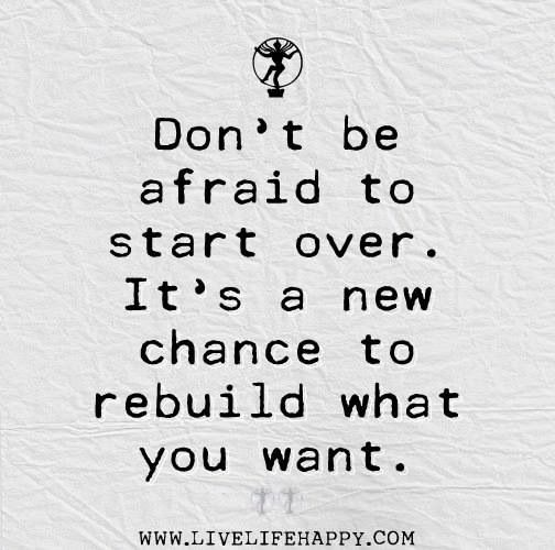 No Red reset button or Do Overs.  Rebuild, as a friend told me today.  Do It Right This Time.  Good wisdom.  Thanks
