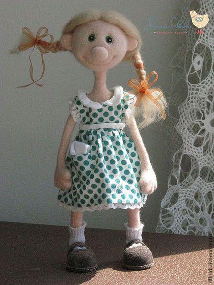 Коллекционные куклы ручной работы. Лелька. Наталья Савинова куклы из шерсти. Интернет-магазин Ярмарка Мастеров. Кукла интерьерная