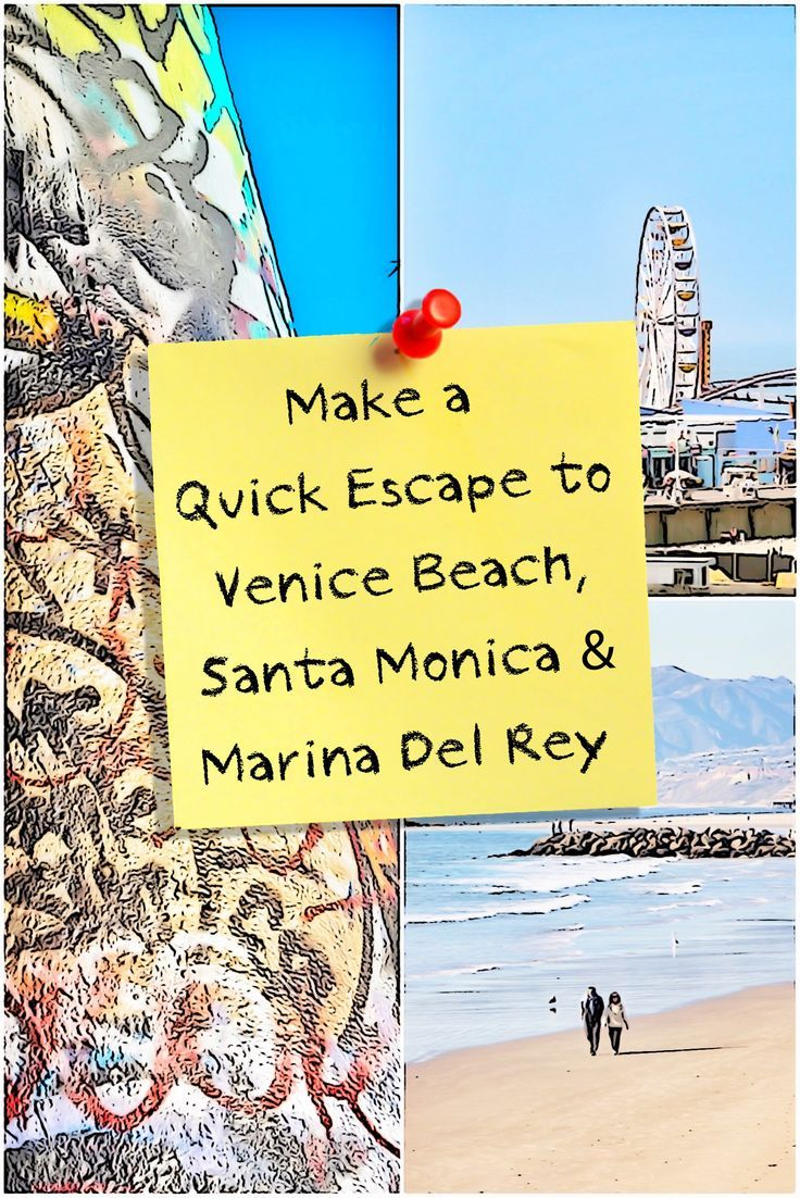 LA's beach towns are a fun place to spend a day or two, soaking up sun and walking in the sand. Here's how to do that in Santa Monica, Venice and Marina Del Rey.