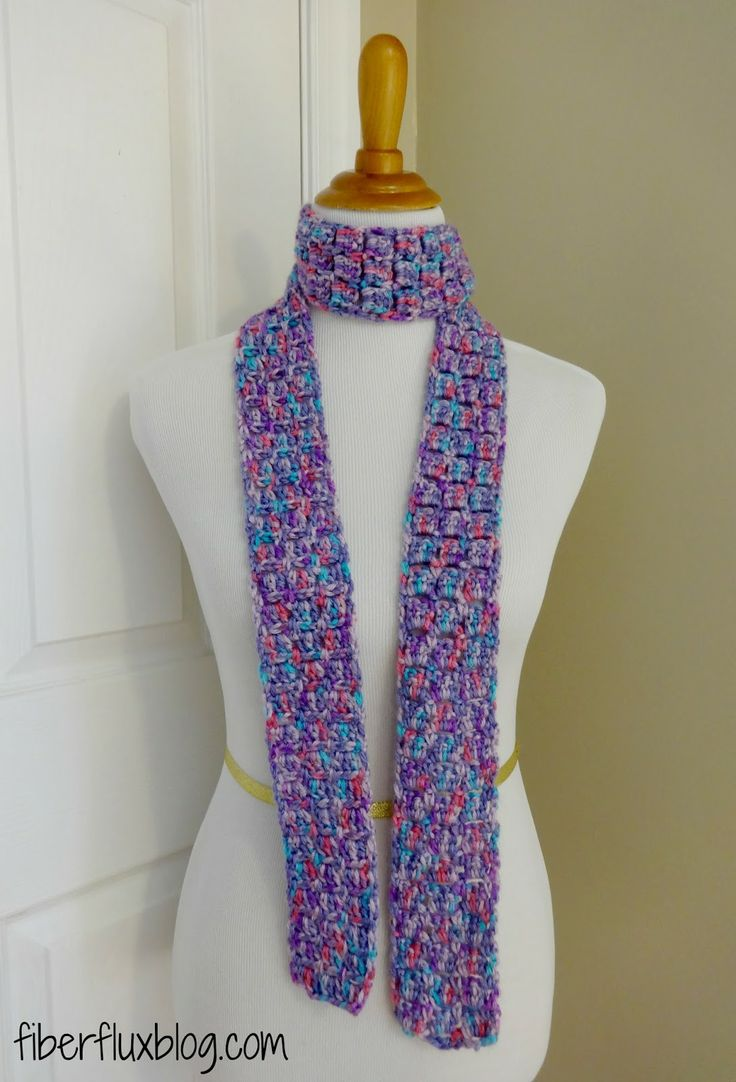 97 best boxblock bricks stitch items images on pinterest the sugar violet skinny scarf is a beautiful soft and colorful scarf that is crocheted in a simple two row stitch sequence and compl bankloansurffo Gallery