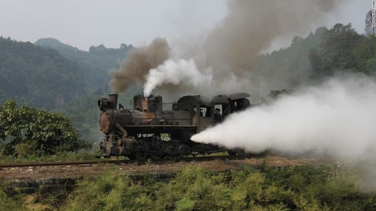 The narrow-gauge rail line was built in 1958 to connect Bagou with the river town of Shibanxi and has six intermediate stops along its 19.8-kilometer (12.3-mile) route.