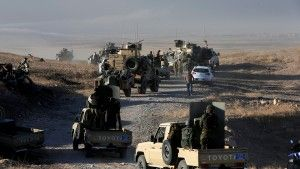 Peshmerga forces advance in the east of Mosul to attack Islamic State militants in Mosul, Iraq, October 17, 2016. REUTERS/Azad Lashkari - RTX2P7TV