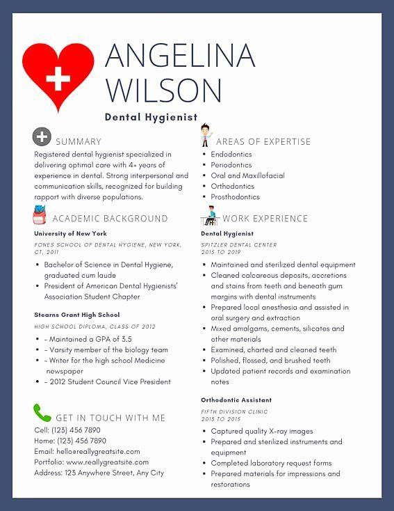 Dental Assistant Resume Examples Luxury Dental Hygienist Resume Example