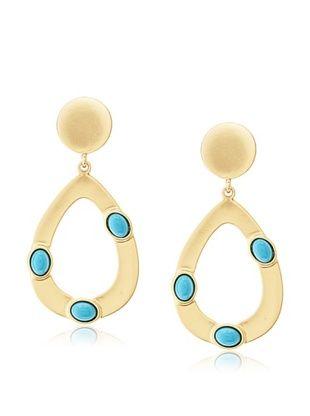 60% OFF Kenneth Jay Lane Satin Gold Teardrop Earrings