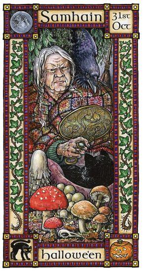 Hedingham Fair Folk Pagan and Green Man, cards, gifts and t-shirts. Samhain/Hallowe'en October 31st.