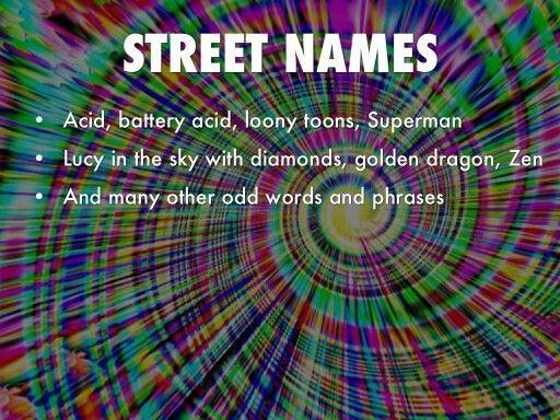 Street names for LSD