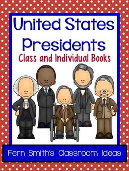 United States Presidents Book Second and Third Grade Version Use for an Entire Class Book or Individual Books {Also makes terrific bulletin board displays} Forty-four Pages of Current Presidents, Blank Template for the 45th President, Blank Template with NO Numbers for Future Presidents or an Extended Writing Assignment #TPT $Paid