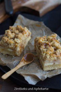 Apfel-Cheesecake mit Walnuss-Streuseln und Karamellsauce - Herbstglück - Zimtkeks und Apfeltarte