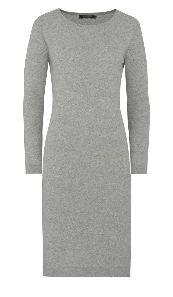 Langermet kashmirkjole - grå #cashmere #cashmere-dress #cashmere-kjole