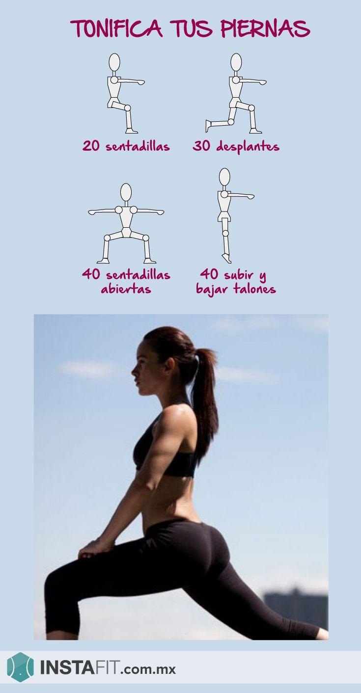 Rutina que tonifica tus piernas, trabaja los muslos, gluteos y pantorrilas. #InstaFit #Fitness #Workout