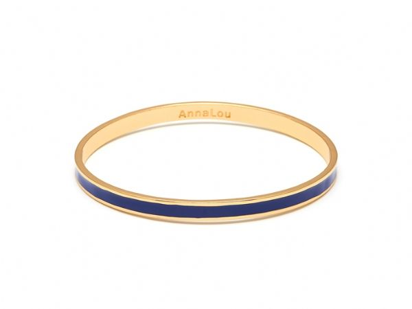 Stacking jewellery is having a major moment this season and there is no chicer way than with these gorgeous enamel bracelets. Mix your pastels with your brights with over 14 different options and start stacking today. 14Kt gold vermeil with enamel bangle. Inside measurement is 6.5cm and width is 5mm