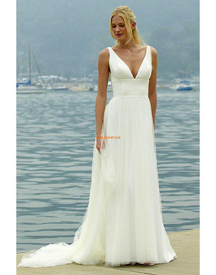 A-line Brillant & Séduisant Fleurs Robes de mariée 2014