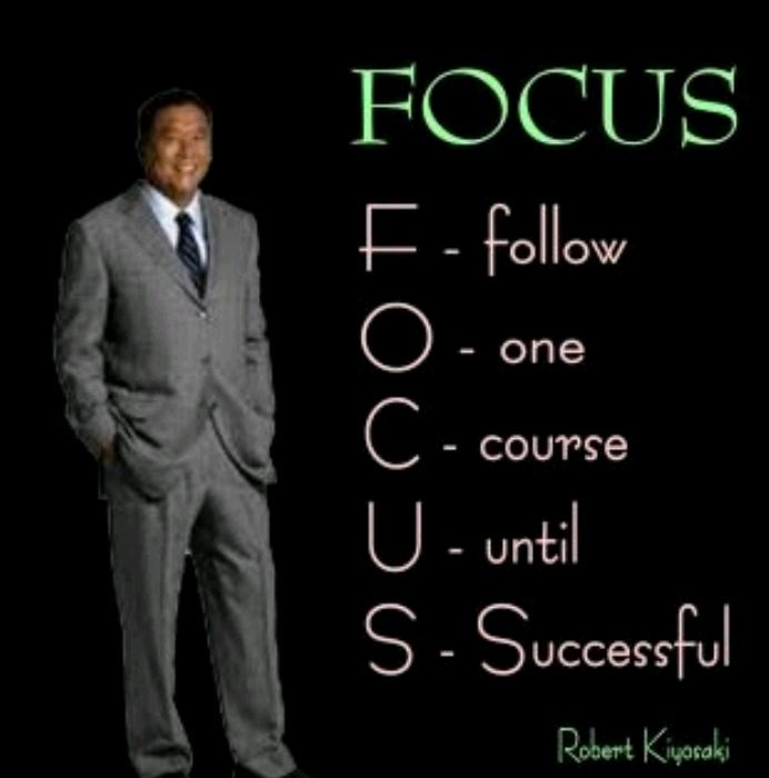 We need to FOCUS hard on what we want to achieve in our business. Love this. http://www.YourLocalMarketingConsultant.com