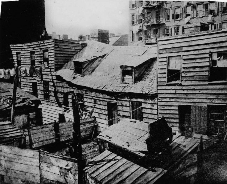 Dens of Death, New York by Jacob Riis Jacob A. Riis was a police reporter in 1877 and decided to document the people living in New York's East Side slum district. His book, How the Other Half Lives: Studies Among the Tenements of New York, was the result of these photographs and was published in 1890. With remorseless candour, he documents the filth, disease, exploitation, and overcrowding that characterized the experience of more than one million immigrants.