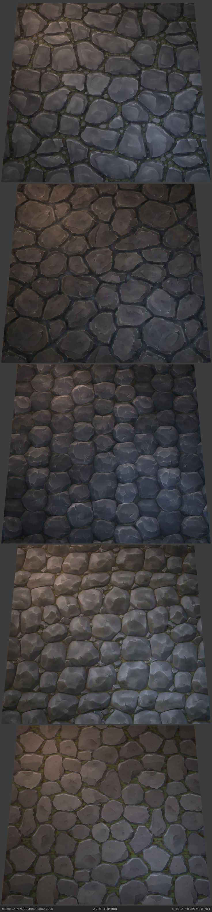 Handpainted stylized rocks textures. Available on sale on the Unity Asset Store