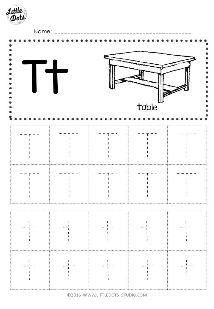 Free Letter T Tracing Worksheets With Images Tracing