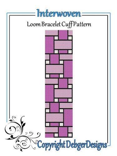 Interwoven+-+Loom+Bracelet+Cuff+Pattern