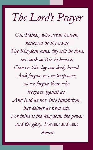 This is a picture of Selective The Lord's Prayer Printable