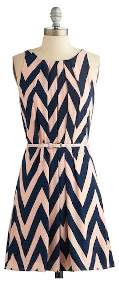 Love this pink and navy chevron dress  http://rstyle.me/n/dyxamnyg6