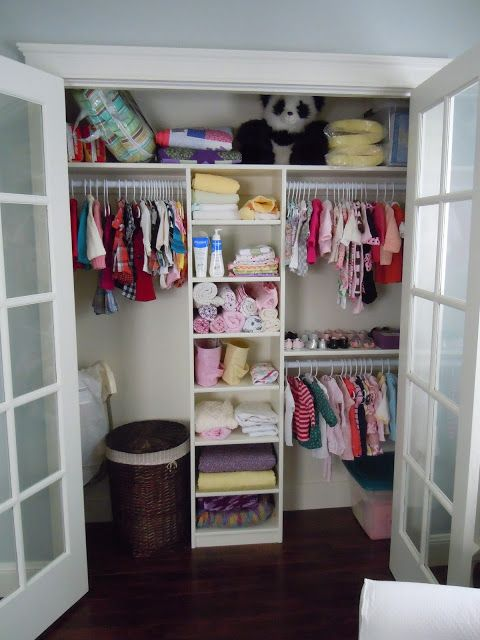 A tree lined street nursery reveal kids one day for Room closet organizer