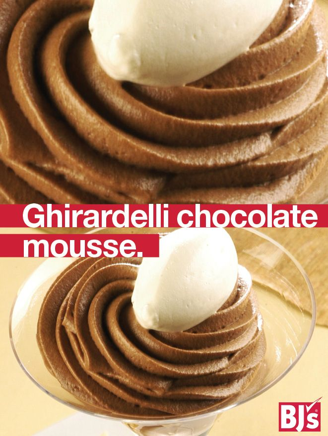 Ghirardelli Chocolate Chips Recipe - Make luscious chocolate mousse for your holiday dessert table. Step-by-step cooking directions. http://stocked.bjs.com/food/ghirardelli-chocolate-mousse