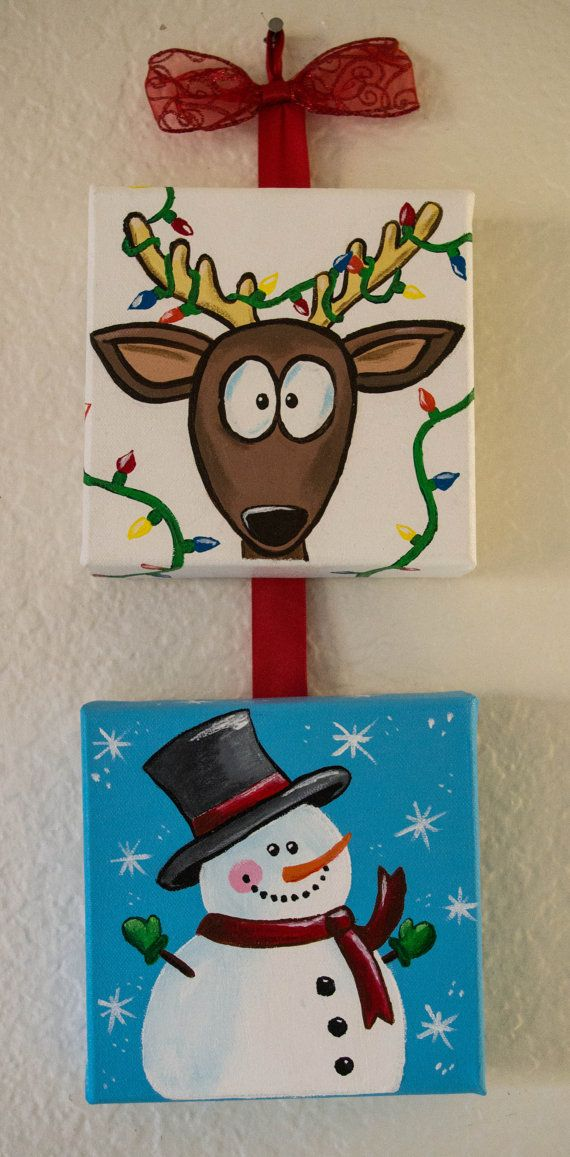 Handpainted Christmas Decorations by 2BrokeArtists on Etsy, $25.00