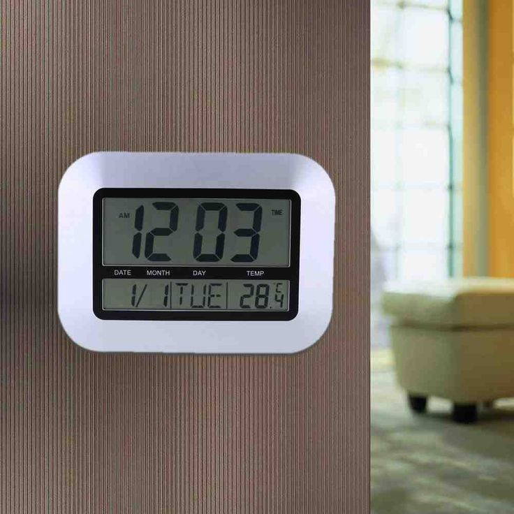 Battery Operated Digital Wall Clock