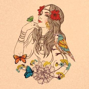 gypsy tattoo symbolizing nature's beauty