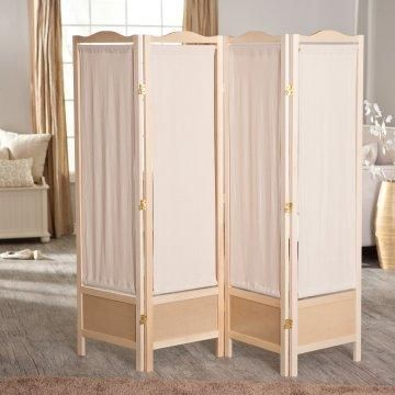Brooks Canvas 4 Panel Room Divider - Switch out fabric to match your decor.