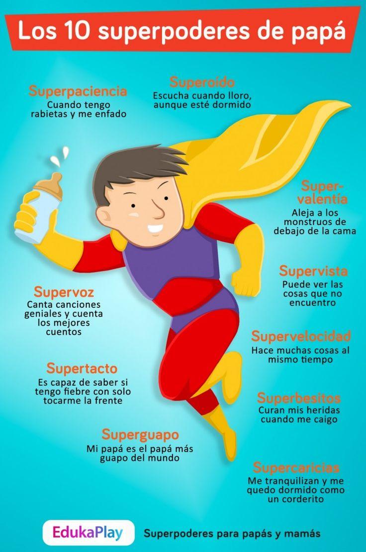 Descarga y comparte la infografía de los superpoderes de papá. ¡Si te gusta compartelo! Lo puedes poner en facebook, twitter, etc, ...leer más