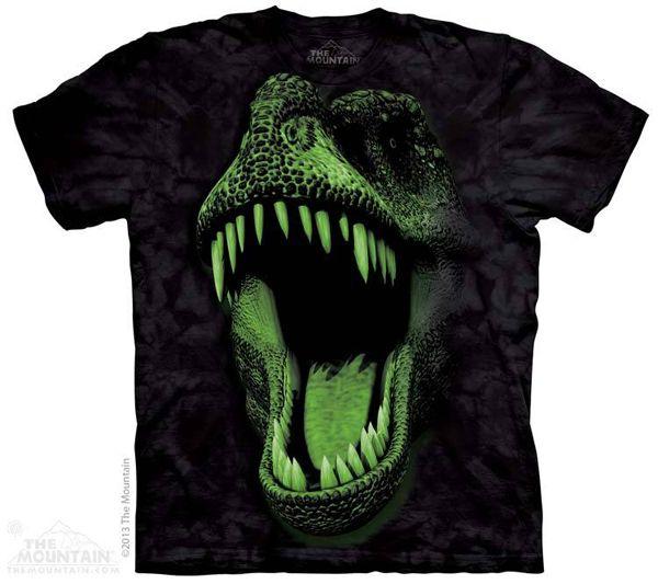 http://www.tododinosaurios.com/es/i584/camiseta-de-t-rex-fluorescente Camiseta de Tiranosaurio rex que se ilumina en la oscuridad !!! El t-rex es uno de los dinosaurios más fieros que se han conocido, cuidado cuando apagues las luces .... ;-) Tallas niño: S, M, L y XL. PVP: 20€