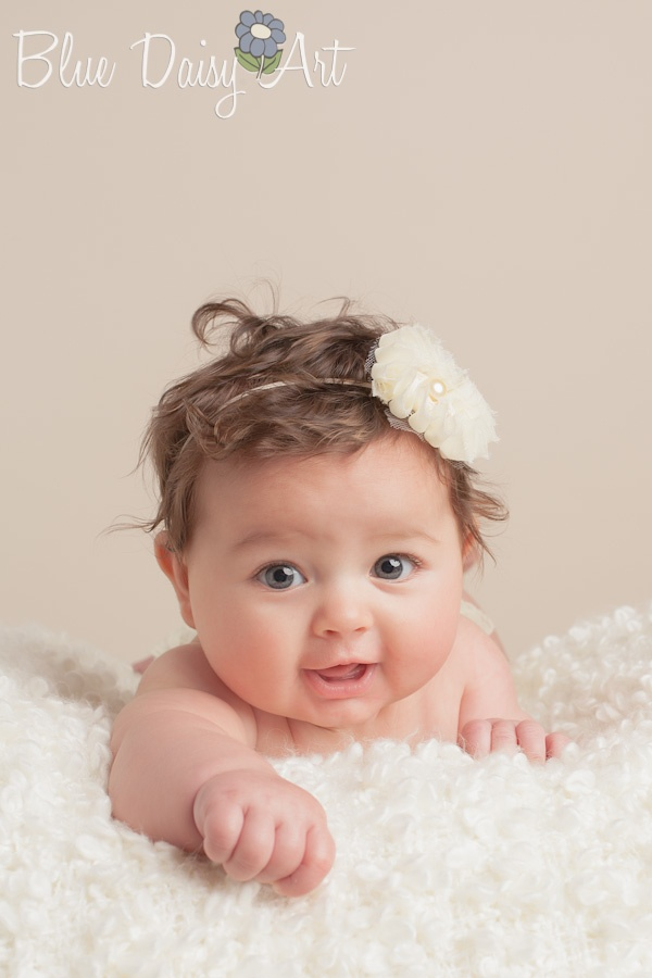 3 month old 4 month old portrait photography www bluedaisyart com