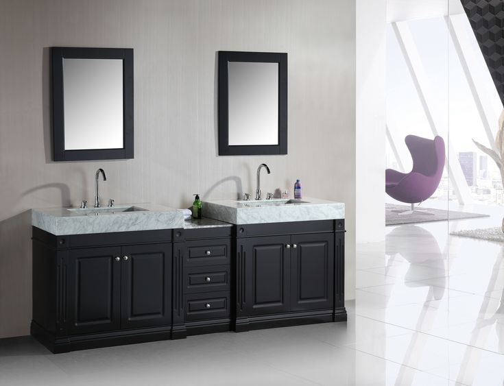 Pics On Design Element Odyssey Double Sink Vanity Set with Integrated Style Sinks http
