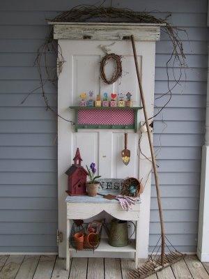West Coast Ellavines: Old Door Hall Tree
