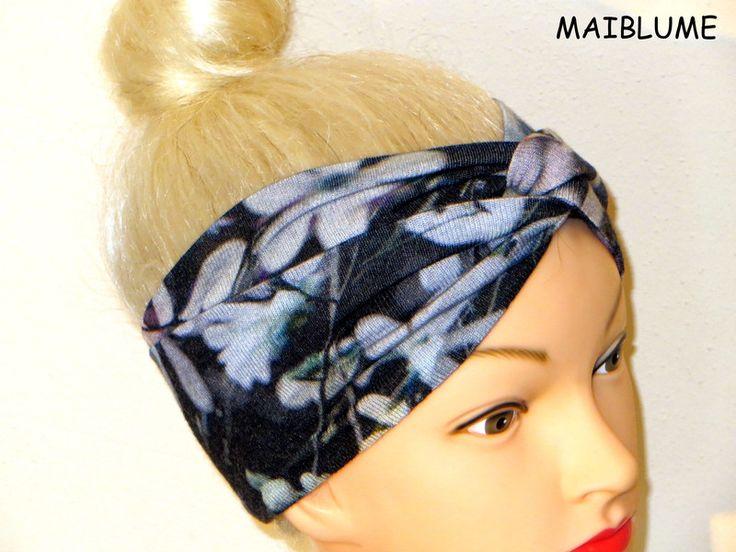 Fascia+per+capelli+Turbante+Jersey+di+Maiblume+su+DaWanda.com