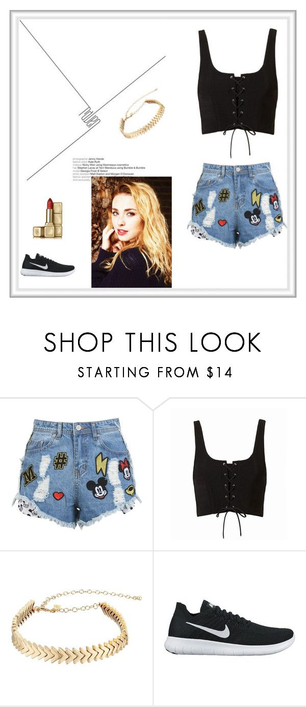 """""""// Olivia Kimberly Richards 🌻 \\"""" by stardust-133 on Polyvore featuring Disney Stars Studios, Rebecca Minkoff, NIKE and Guerlain"""