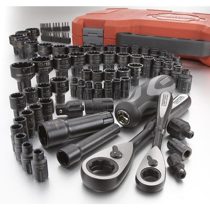 Tool Set Craftsman 85pc w/ Case Socket Tools Mechanics Wrench SAE METRIC Ratchet #Craftsman