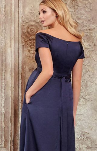 7dfd0a3dc3 Aria Maternity Gown Midnight Blue - Maternity Wedding Dresses