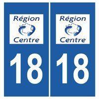 Autocollant plaque immatriculation auto département 18 Cher: Frais de Port GRATUIT Envoi sous 2 jours Fabrication professionnelle…