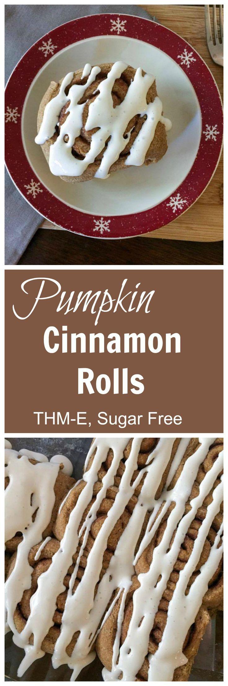 THM-Friendly Pumpkin Cinnamon Rolls (THM-E, Sugar Free)